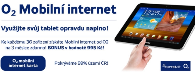 Internet zdarma k 3G Tabletu